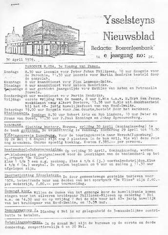 Ysselsteyns Nieuwsblad 1976-04-30