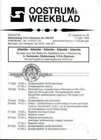 Oostrum's Weekblad 1998-09-17