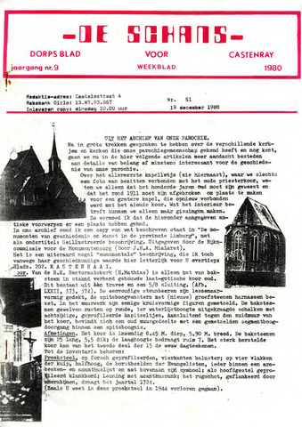 Castenrays dorpsblad De Schans 1980-12-19