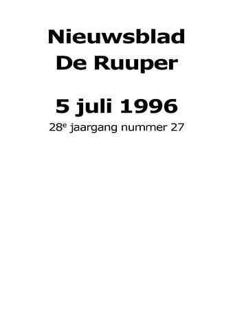 Dorpsblad Leunen-Veulen-Heide 1996-07-05