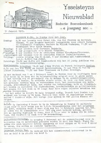 Ysselsteyns Nieuwsblad 1975-01-31
