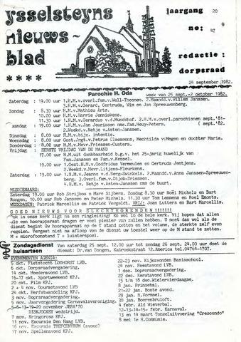 Ysselsteyns Nieuwsblad 1982-09-24