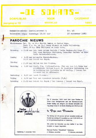 Castenrays dorpsblad De Schans 1983-11-18