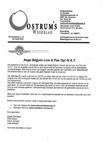 Oostrum's Weekblad 2007-03-22