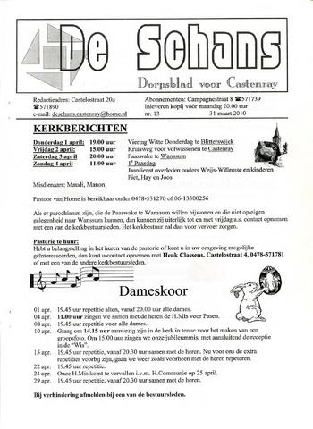 Castenrays dorpsblad De Schans 2010-03-31