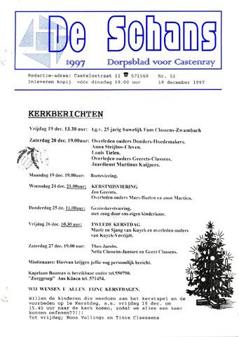 Castenrays dorpsblad De Schans 1997-12-19