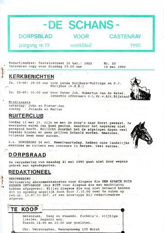 Castenrays dorpsblad De Schans 1990-05-18