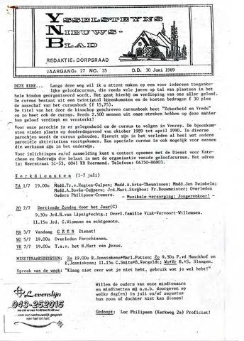 Ysselsteyns Nieuwsblad 1989-06-30