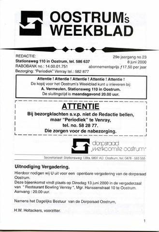 Oostrum's Weekblad 2000-06-08