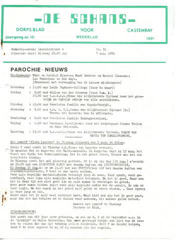 Castenrays dorpsblad De Schans 1981-08-07