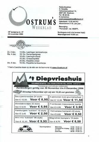 Oostrum's Weekblad 2006-11-30