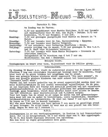 Ysselsteyns Nieuwsblad 1965-03-24