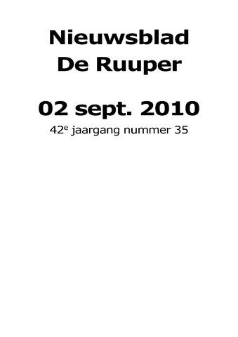 Dorpsblad Leunen-Veulen-Heide 2010-09-02