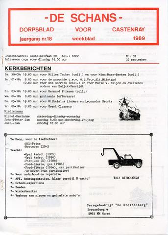 Castenrays dorpsblad De Schans 1989-09-29