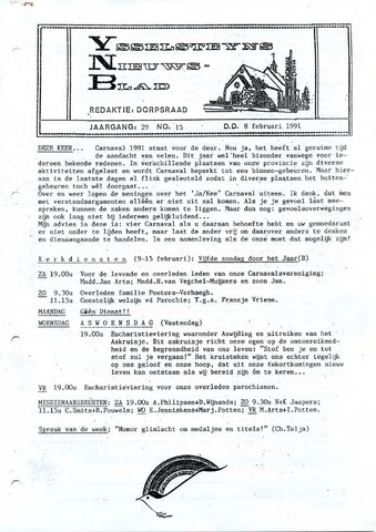 Ysselsteyns Nieuwsblad 1991-02-08