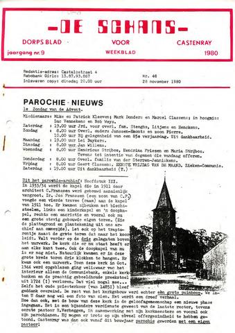 Castenrays dorpsblad De Schans 1980-11-28