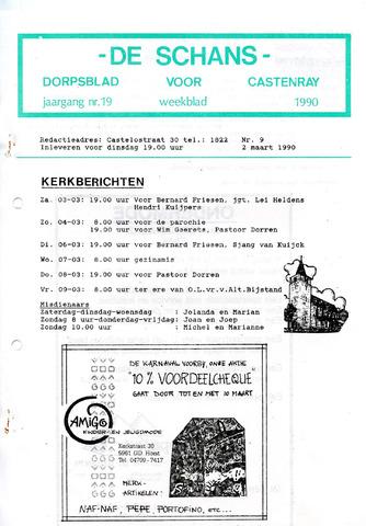 Castenrays dorpsblad De Schans 1990-03-02