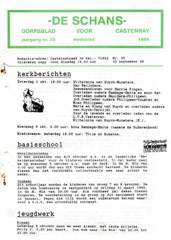 Castenrays dorpsblad De Schans 1994-09-30