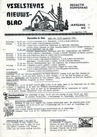 Ysselsteyns Nieuwsblad 1983-08-12