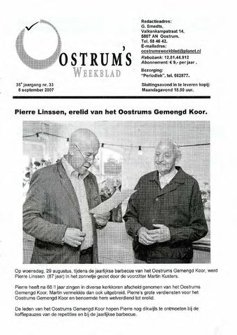 Oostrum's Weekblad 2007-09-06