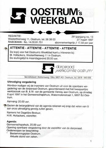 Oostrum's Weekblad 1997-03-27