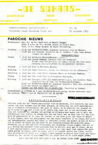 Castenrays dorpsblad De Schans 1983-10-21