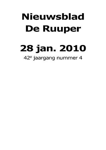 Dorpsblad Leunen-Veulen-Heide 2010-01-28