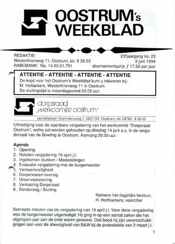 Oostrum's Weekblad 1994-06-09
