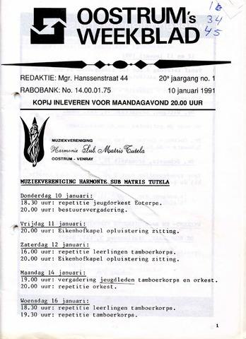 Oostrum's Weekblad 1991-01-10
