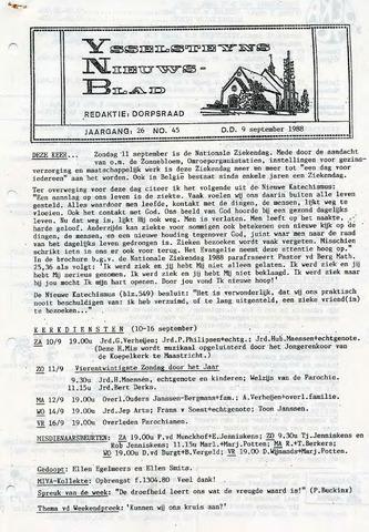 Ysselsteyns Nieuwsblad 1988-09-09