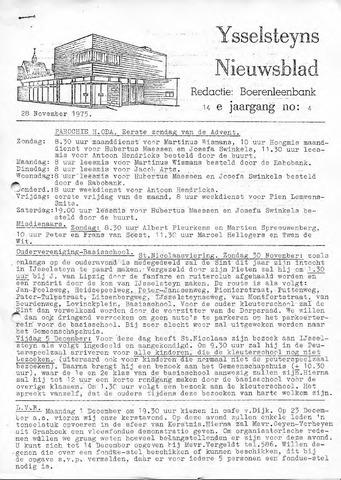 Ysselsteyns Nieuwsblad 1975-11-28