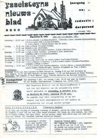 Ysselsteyns Nieuwsblad 1982-10-01