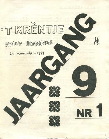 Oirlo's dorpsblad 't Krèntje 1977-11-24