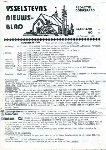 Ysselsteyns Nieuwsblad 1983-02-25