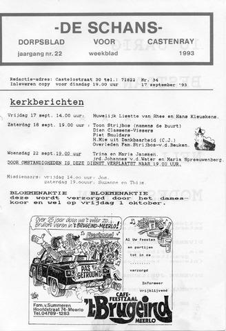 Castenrays dorpsblad De Schans 1993-09-17