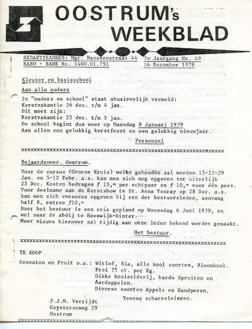 Oostrum's Weekblad 1978-12-14