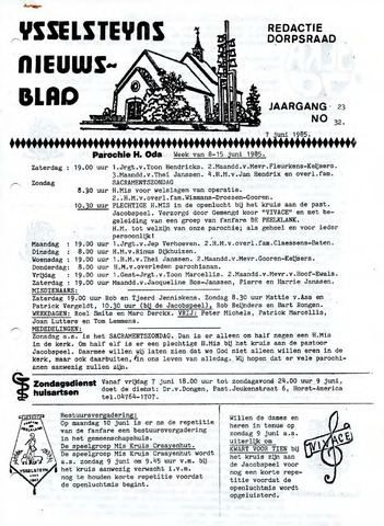 Ysselsteyns Nieuwsblad 1985-06-07