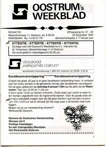 Oostrum's Weekblad 1993-12-23