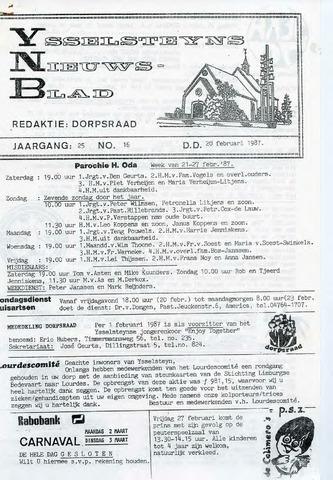 Ysselsteyns Nieuwsblad 1987-02-20