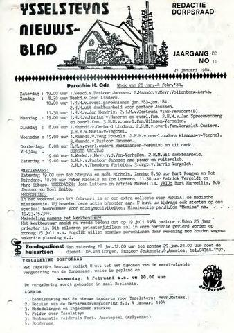 Ysselsteyns Nieuwsblad 1984-01-27