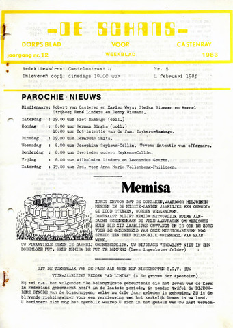 Castenrays dorpsblad De Schans 1983-02-04