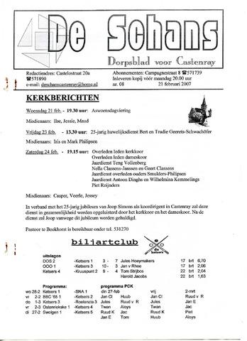 Castenrays dorpsblad De Schans 2007-02-21