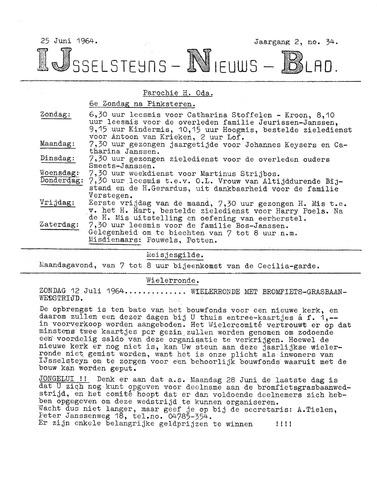 Ysselsteyns Nieuwsblad 1964-06-25