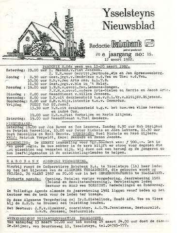 Ysselsteyns Nieuwsblad 1982-03-12