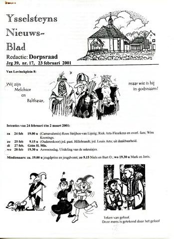 Ysselsteyns Nieuwsblad 2001-02-23