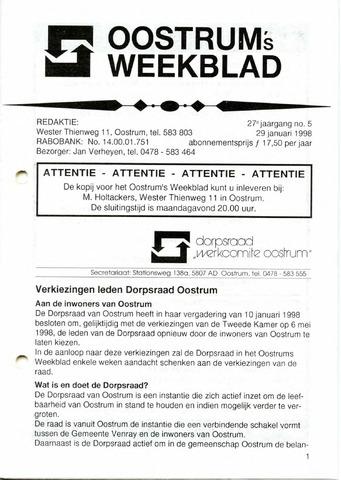 Oostrum's Weekblad 1998-01-29