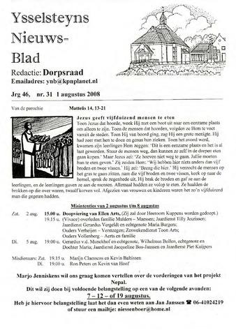 Ysselsteyns Nieuwsblad 2008-08-01