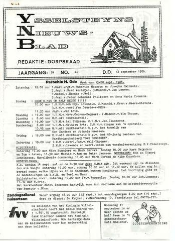 Ysselsteyns Nieuwsblad 1986-09-12