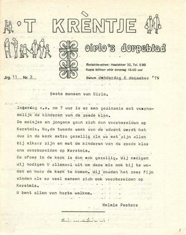 Oirlo's dorpsblad 't Krèntje 1979-12-06