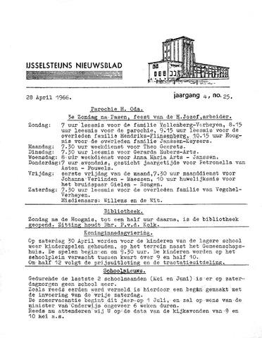 Ysselsteyns Nieuwsblad 1966-04-28